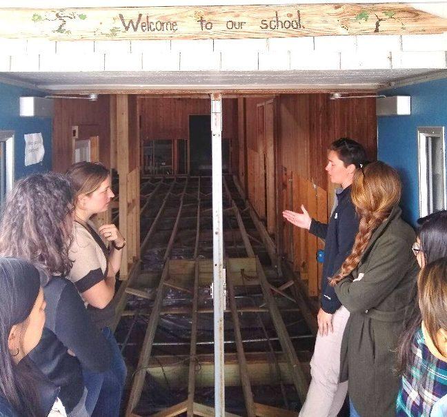 UNC Students Visit Ocraoke | Tour of School
